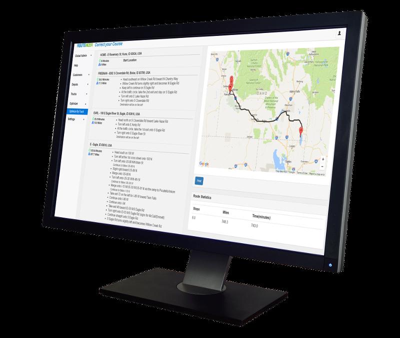 Screenshot of RouteMizer